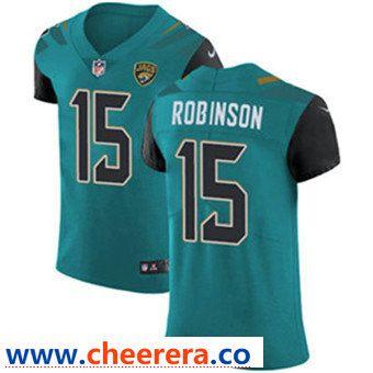 Top Men's Nike Jacksonville Jaguars #15 Allen Robinson Teal Green Team  supplier