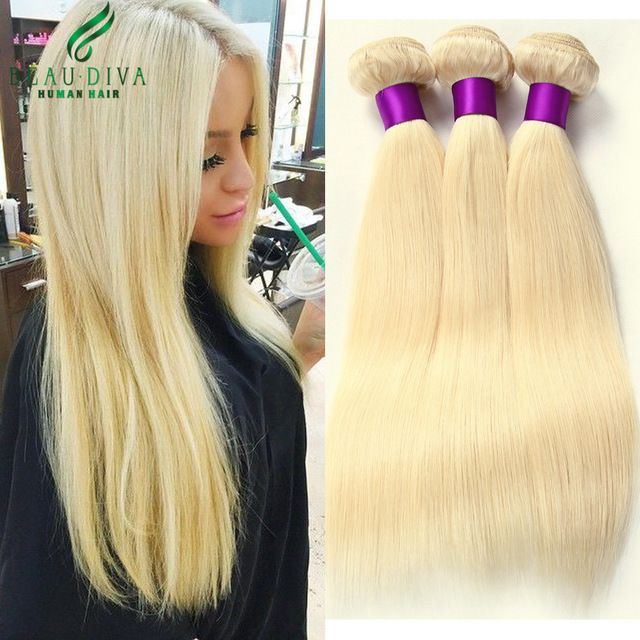 Blonde Brazilian Virgin Hair Straight 3 Bundles 613 Brazilian