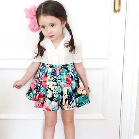 Kimberly Floral Dress - White, Pink