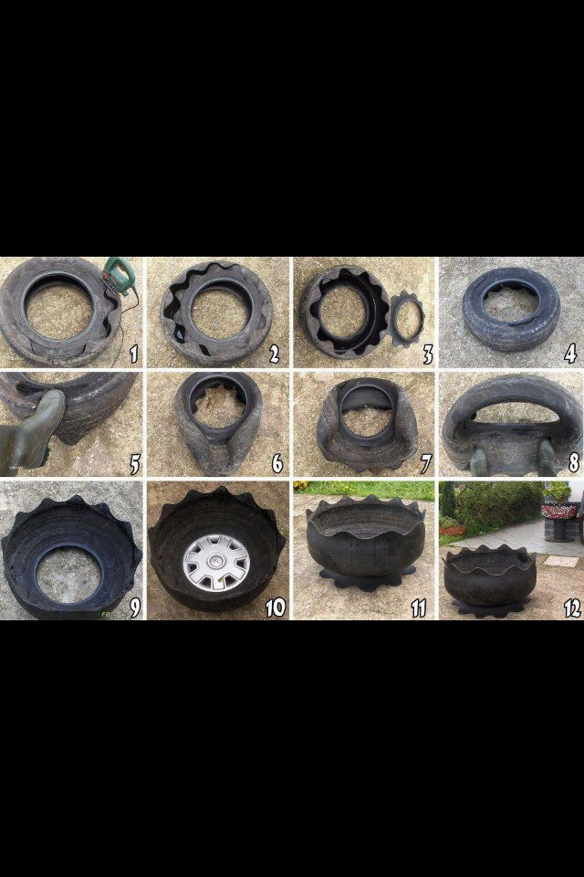 Recycled tire garden
