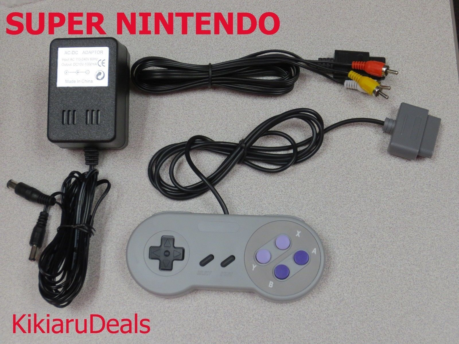 1 Controller + AC Adapter Power Cord + AV Video Cables for