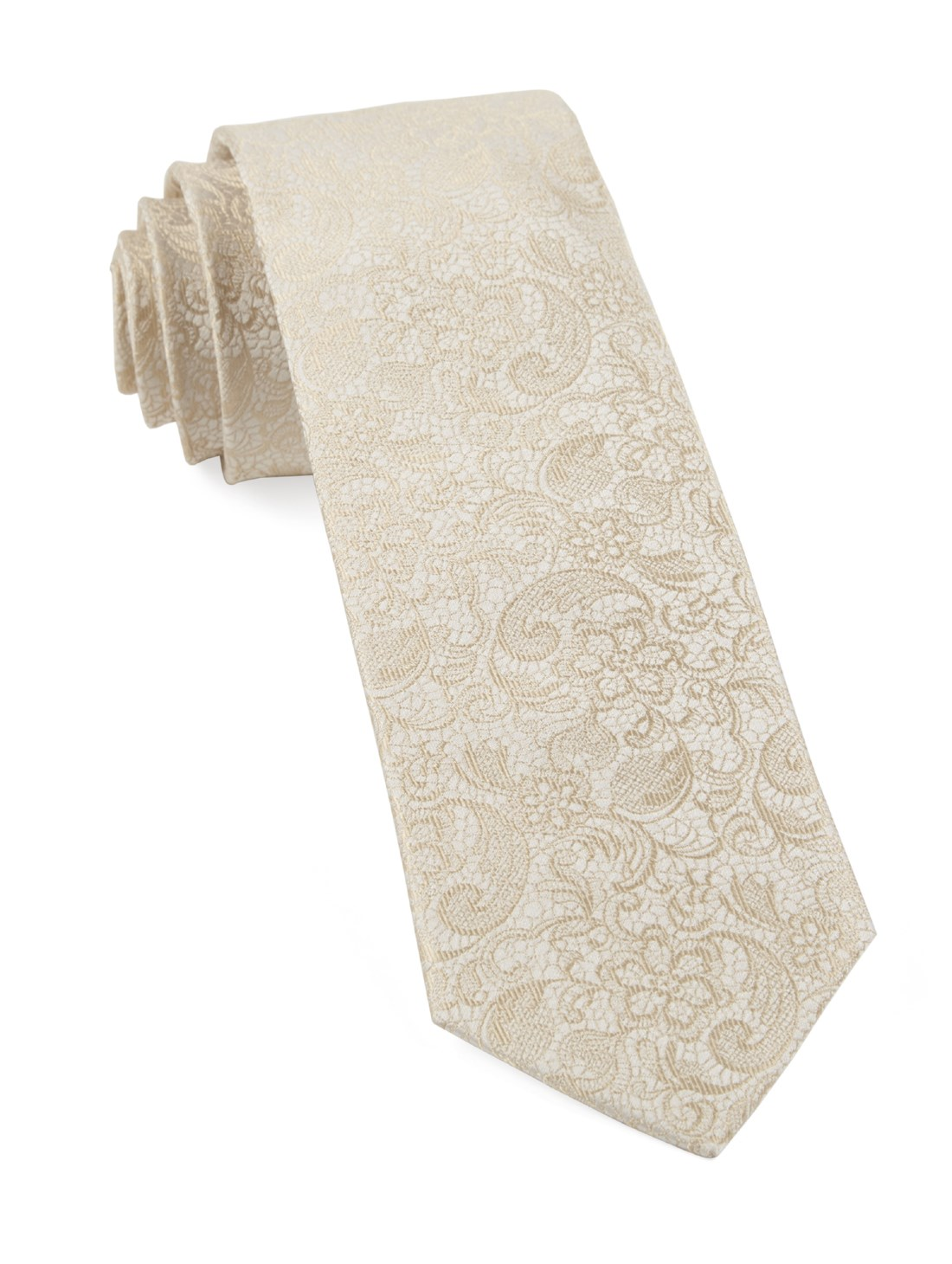 a71e6654e11 The Tie Bar  Ceremony Paisley Ties Light Champagne 2.5 In. Regular ...