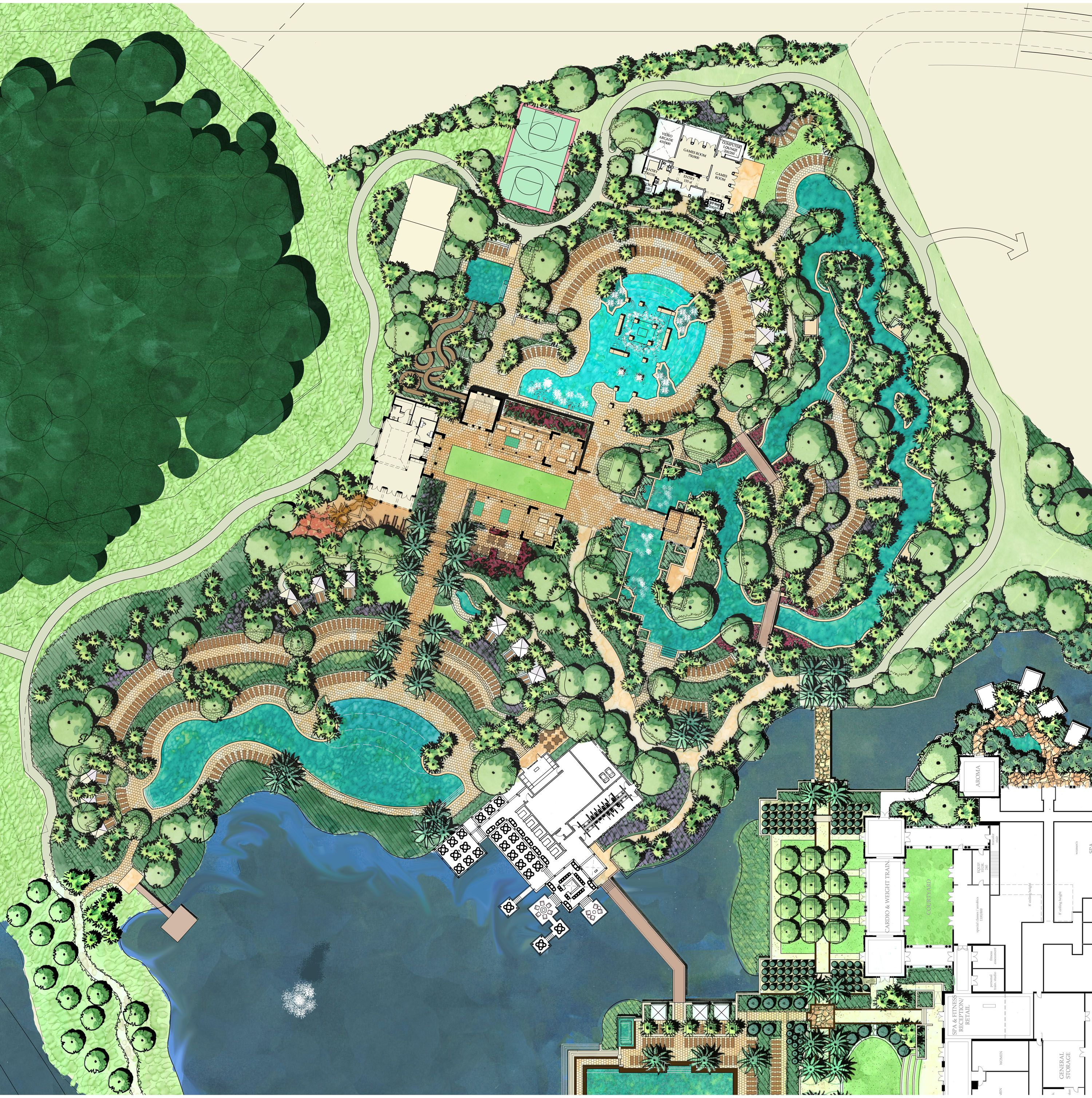 Master plan of amenity island project four seasons for Designhotel 21