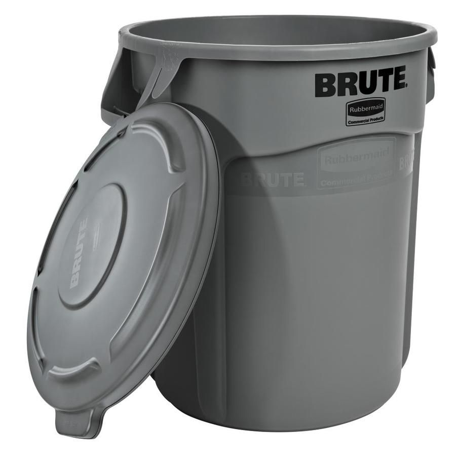 Rubbermaid Commercial Products Brute 20g Vented Retail Combo Gray 2118186 In 2020 Rubbermaid Commercial Products Rubbermaid Trash Can