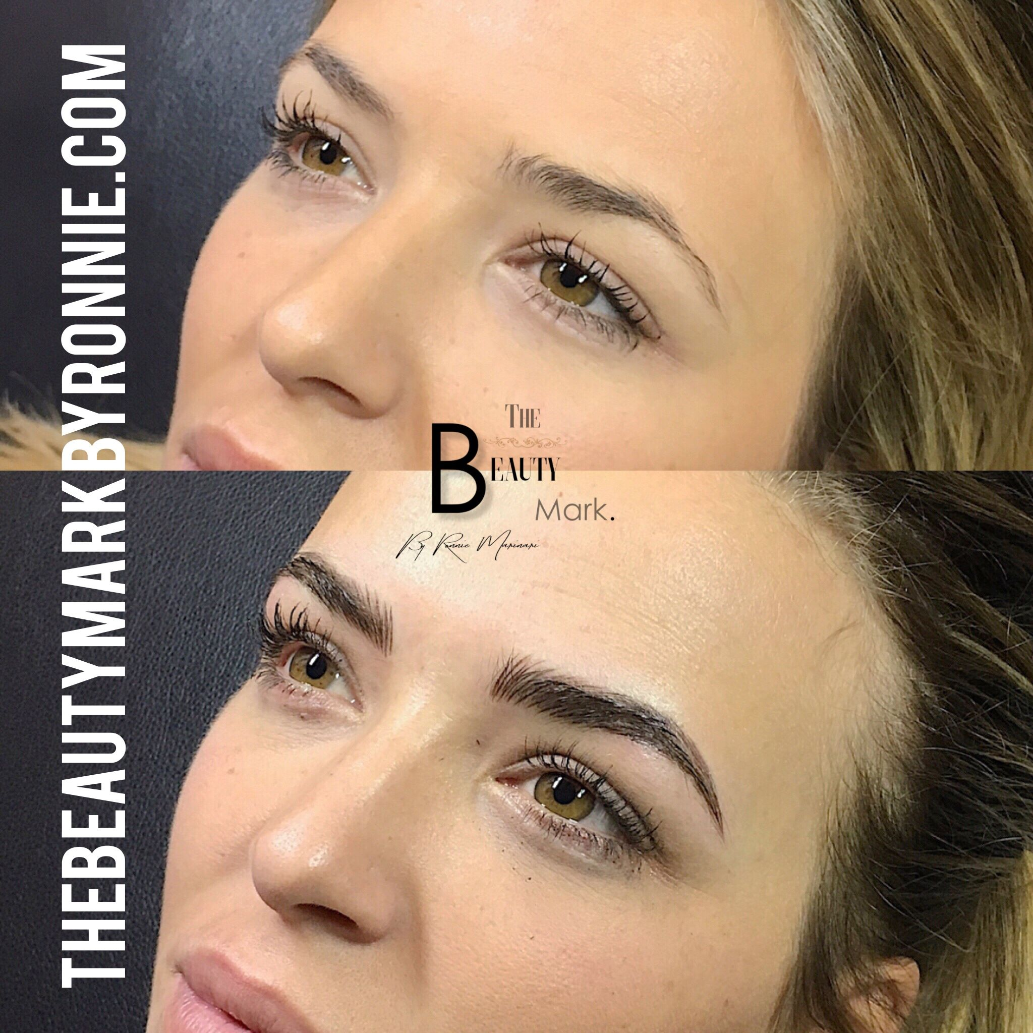 Microblading combination Microblading, Facial images