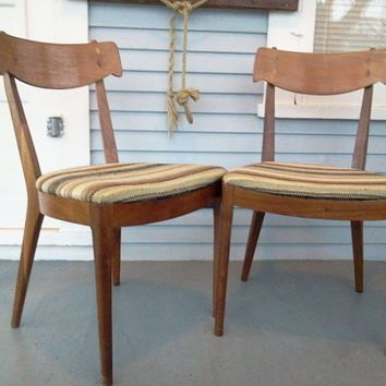 sale two vintage wood kitchen chair dining chair wood chair - Modern Kitchen Chairs