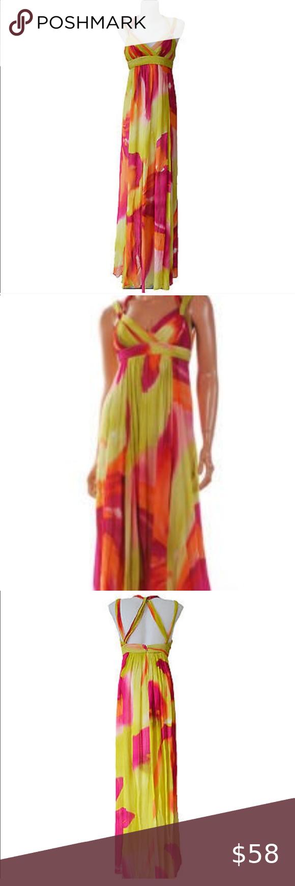 Bcbg Maxazria Lime Fuschia Chiffon Maxi Dress Gorgeous Chiffon Maxi Dress Colors Are Lime Fuschia And Tangerin Chiffon Maxi Dress Dresses Gorgeous Dresses [ 1740 x 580 Pixel ]