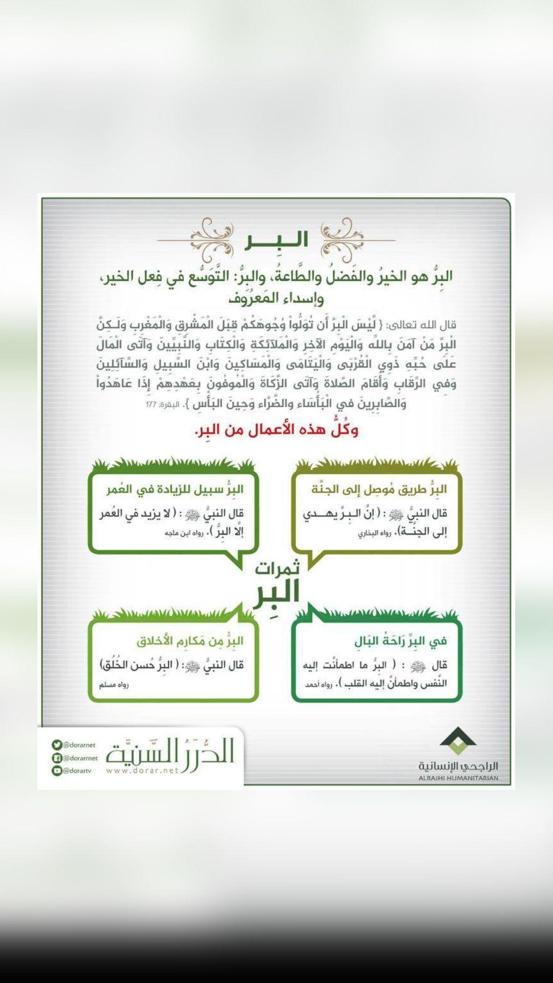البر An Immersive Guide By اترك اثرا علي المنبهي