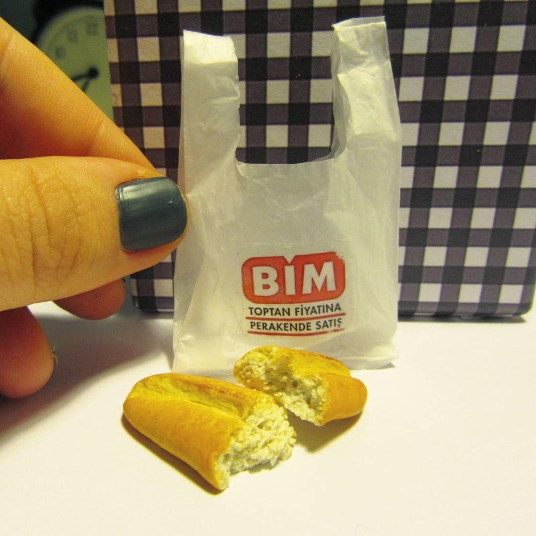 Hangimiz Koymadik Ekmegimizi Bim Posetine Ha Bim Bimmarket Bimposeti Minyatur Miniature Miniatureart M Tiny Food Miniatures Tutorials Miniture Things