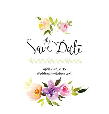 Watercolor flower wreath vector save the date by karma3 on watercolor flower wreath vector save the date by karma3 on vectorstock stopboris Image collections