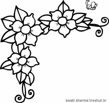 flowers coloring pages set 2 riscos