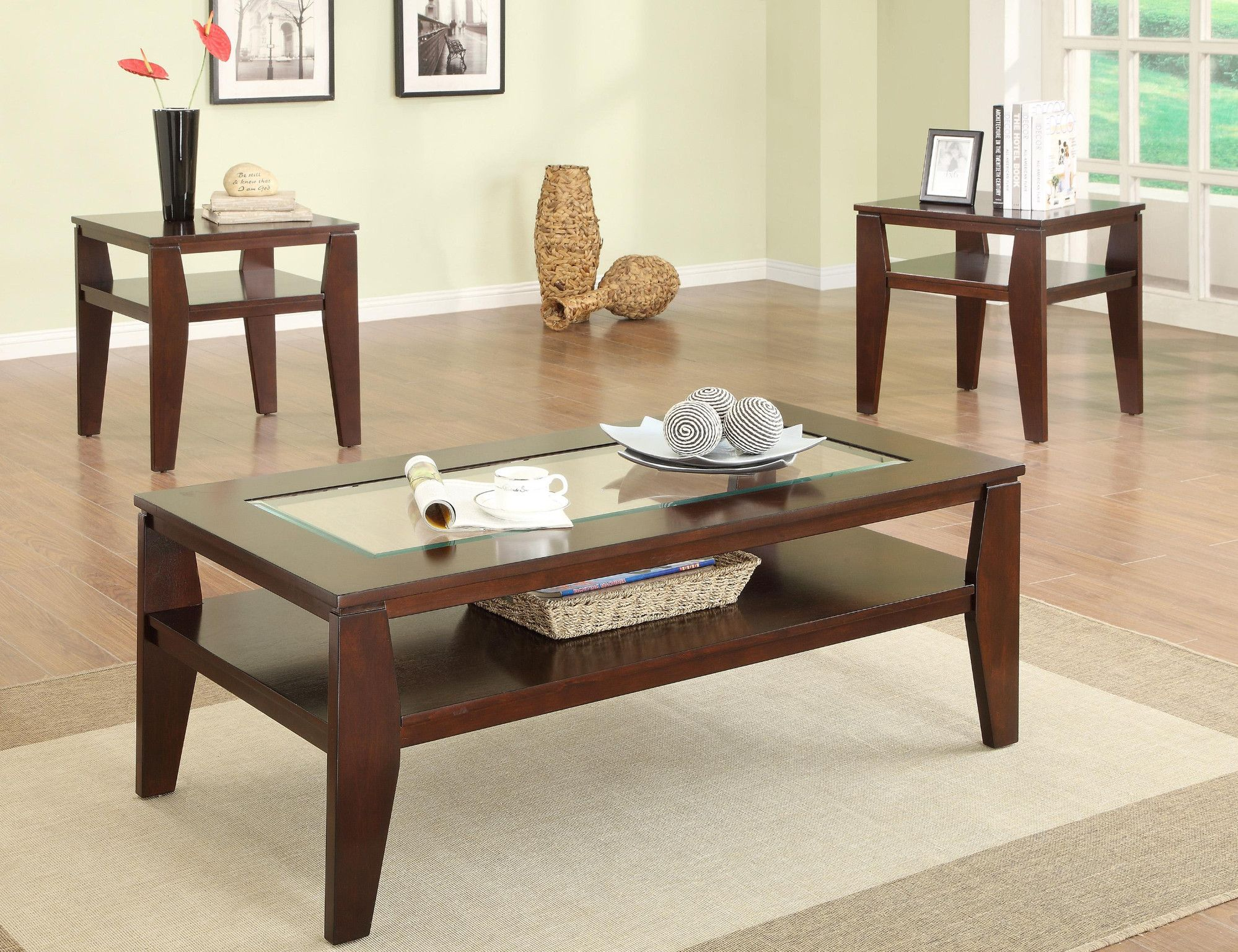 Scott 3 Piece Table Set Coffee And 2 End Tables 299 00 Coffee Table With Glass Insert 48 X Coffee Table 3 Piece Coffee Table Set Coffee Table Setting [ 1536 x 1998 Pixel ]