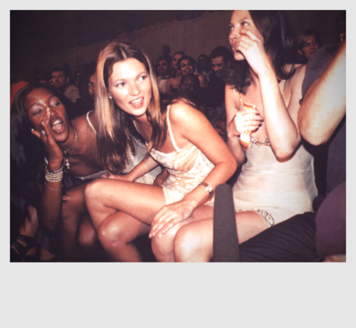 Naomi Campbell Kate Moss Flaunts Their Sizzling: Naomi, Kate, Christy. Polaroid