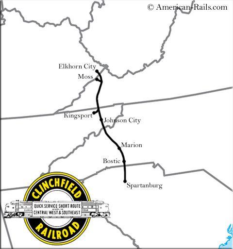 Clinchfield Railroad Map In 2019