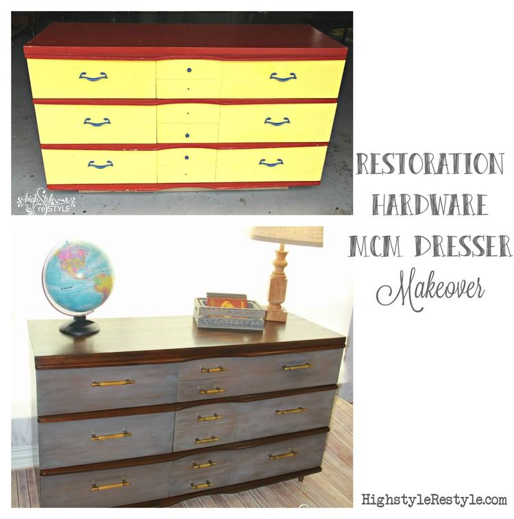 22 Gel Stain Kitchen Cabinets As Great Idea For Anybody: Restoration Hardware-Inspired MCM Dresser Makeover