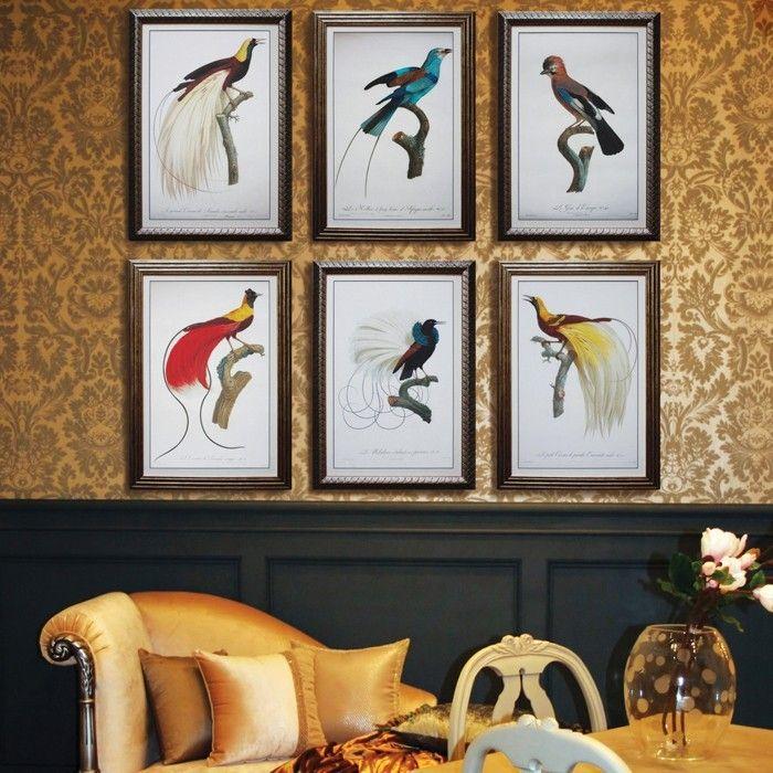 gobelin stickbilder kreative ideen deko ideen diy ideen anders denken aus alt macht neu vogeln - Kreative Ideen Diy