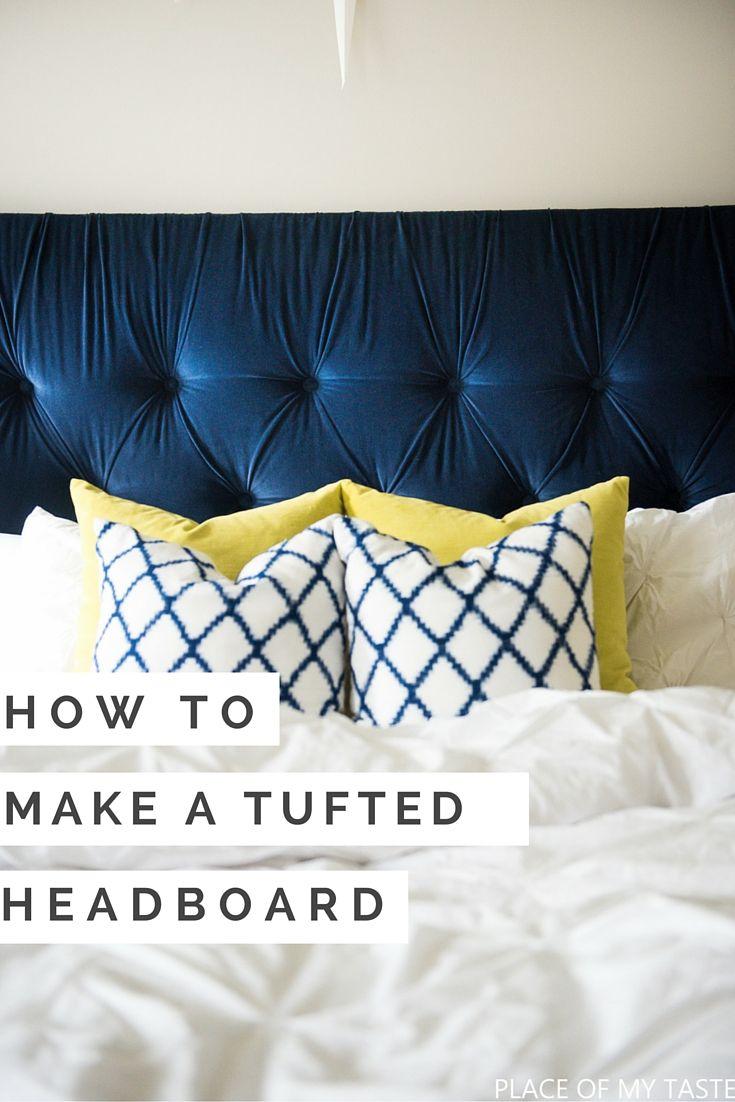 Superb Room · HOW TO MAKE A TUFTED HEADBOARD 3