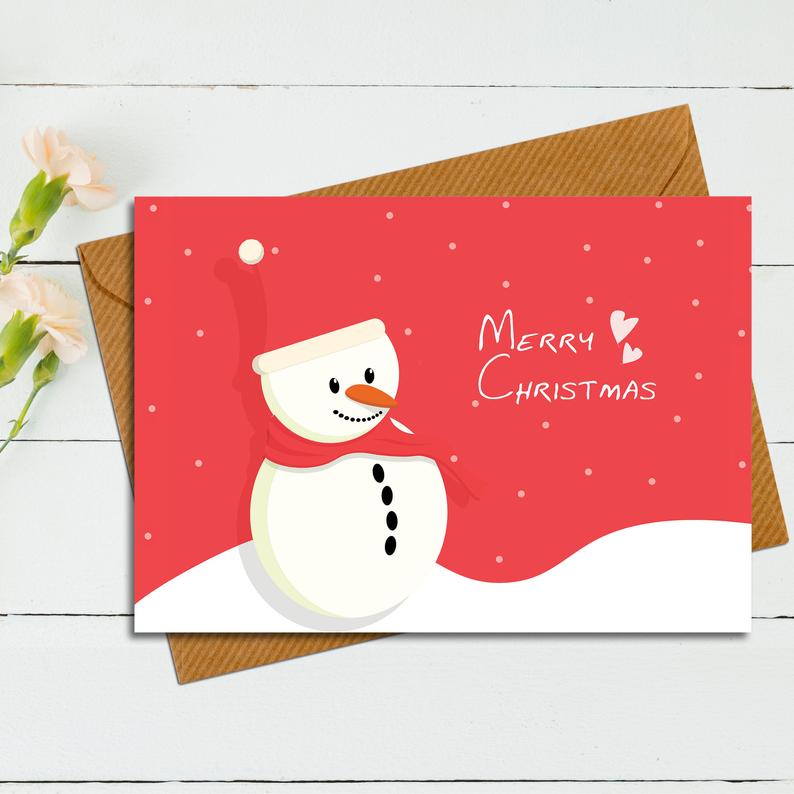 Christmas Card And Envelope Template Printable Card And Etsy Envelope Template Printable Printable Cards Envelope Template