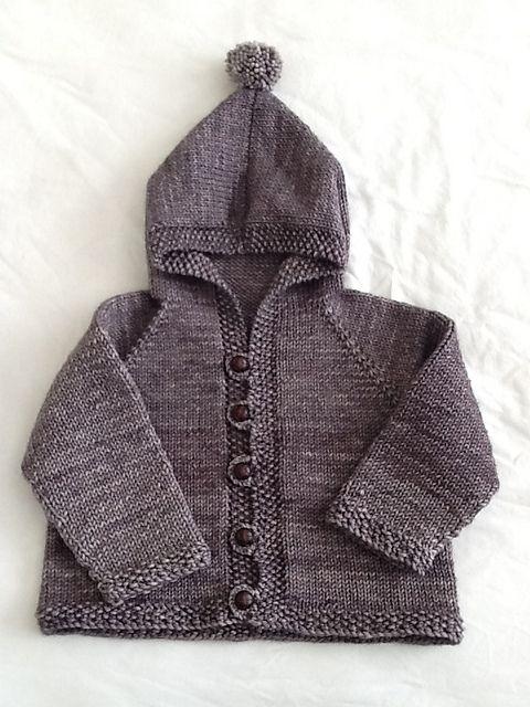 Free Pattern Friday: Easy Baby Cardigan   knitting   Pinterest ...