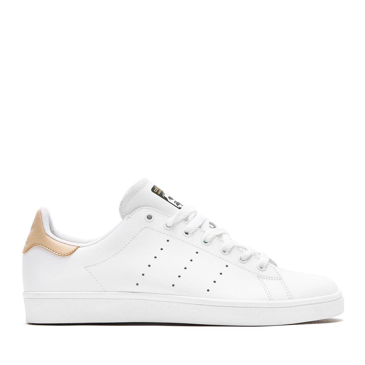 Adidas uomini stan smith, te ftwwht / stpanu / goldmt pattinare scarpa 10 uomini.