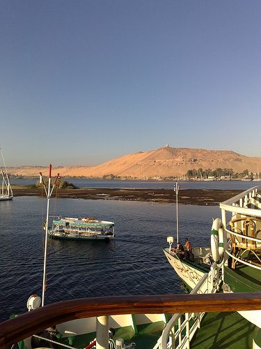 A view across the Nile at Aswan from a cruise boat [shared]