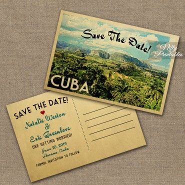 Cuban Themed Save The Date Belize Wedding Invitations Merry It