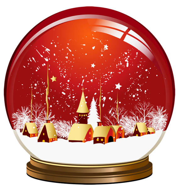 Red Christmas Snowglobe Png Clipart Snow Globes Christmas Snow Globes Christmas Globes