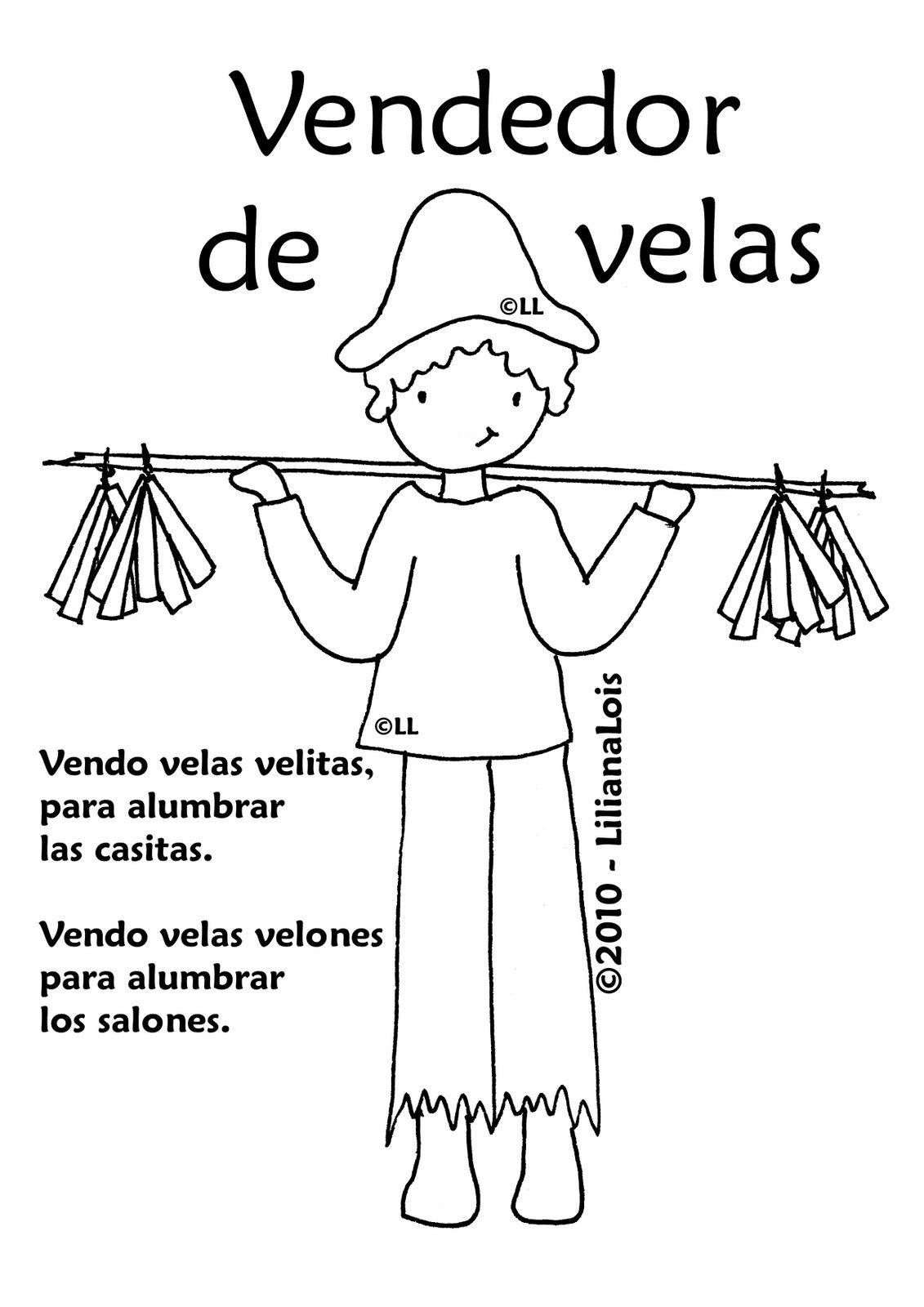 Vendedores de la epoca colonial: vendedores de velas | Argentina ...