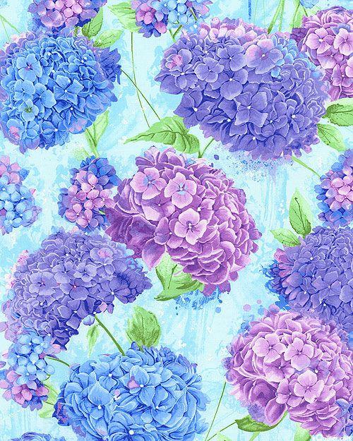 Harmony Happy Hydrangeas Dawn Blue Hydrangea Wallpaper Floral Painting Flower Backgrounds