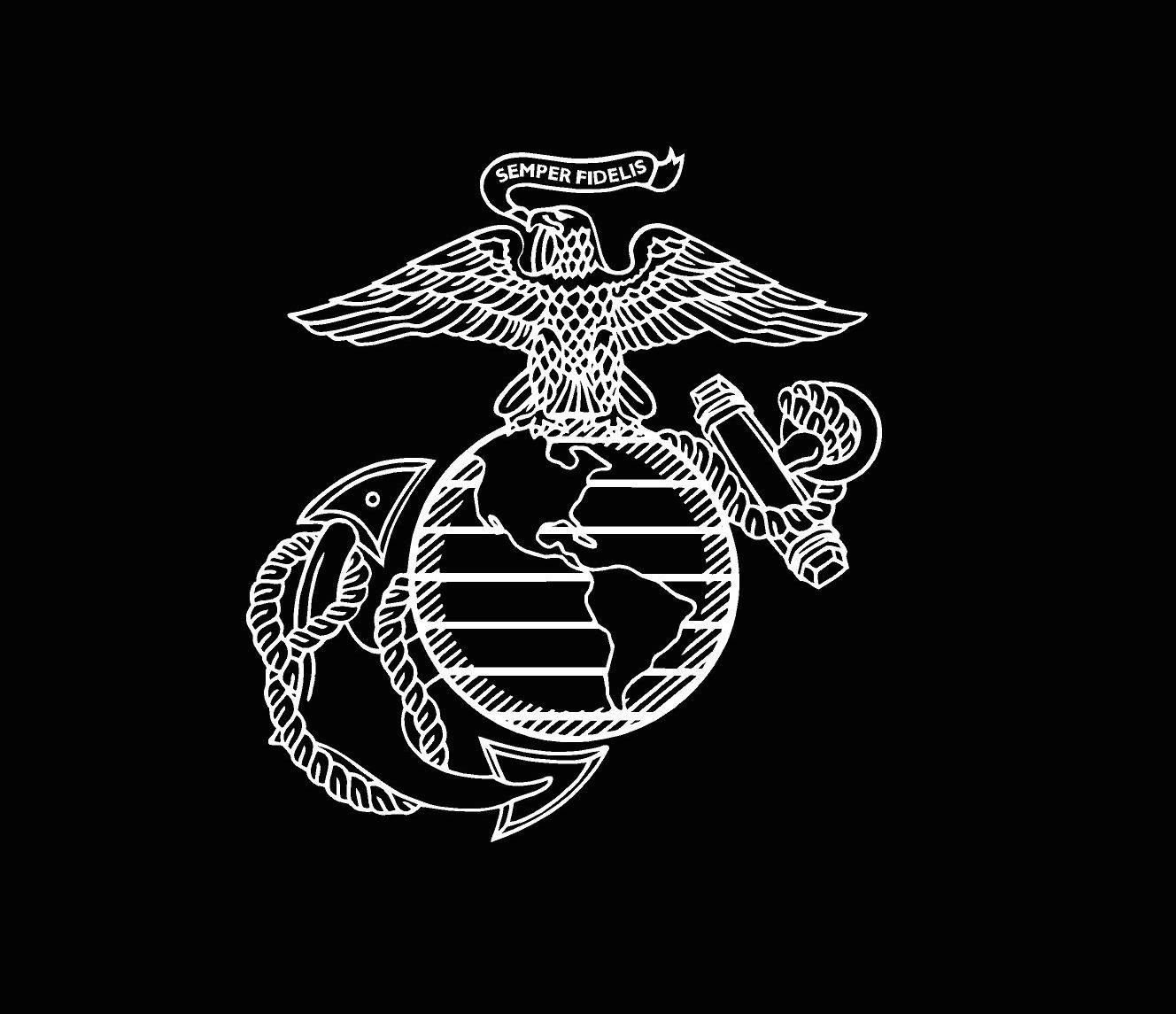 Bumper Sticker//decal United States Marines Marine Corps U.S.M.C