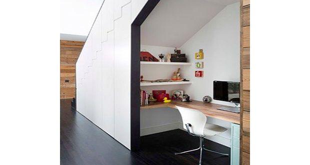 Am nagement d 39 un bureau dans un petit espace projets pour la maison for Amenagement bureau petit espace