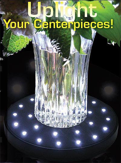 Led Centerpiece Uplights Decorations Pinterest Centerpieces
