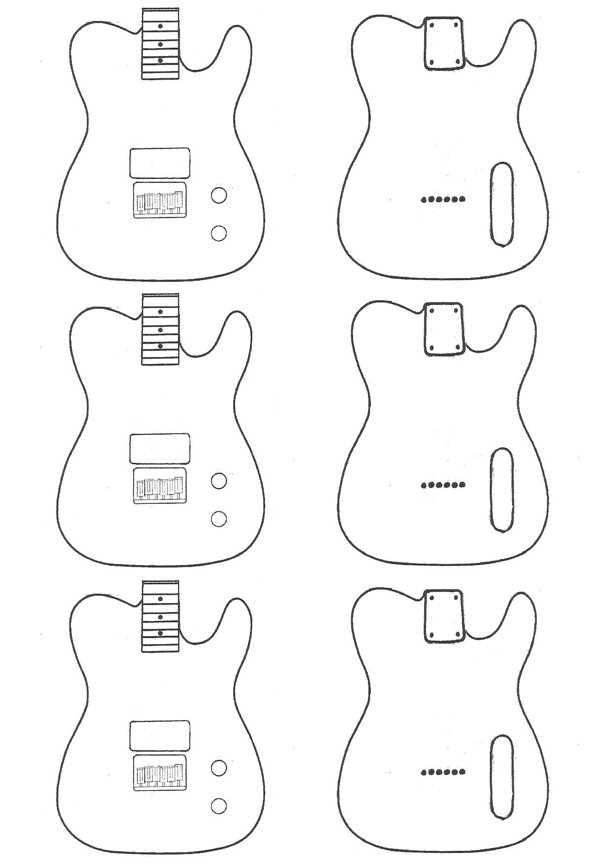 mylk project kes telecaster templates board telecaster guitar guitar building. Black Bedroom Furniture Sets. Home Design Ideas