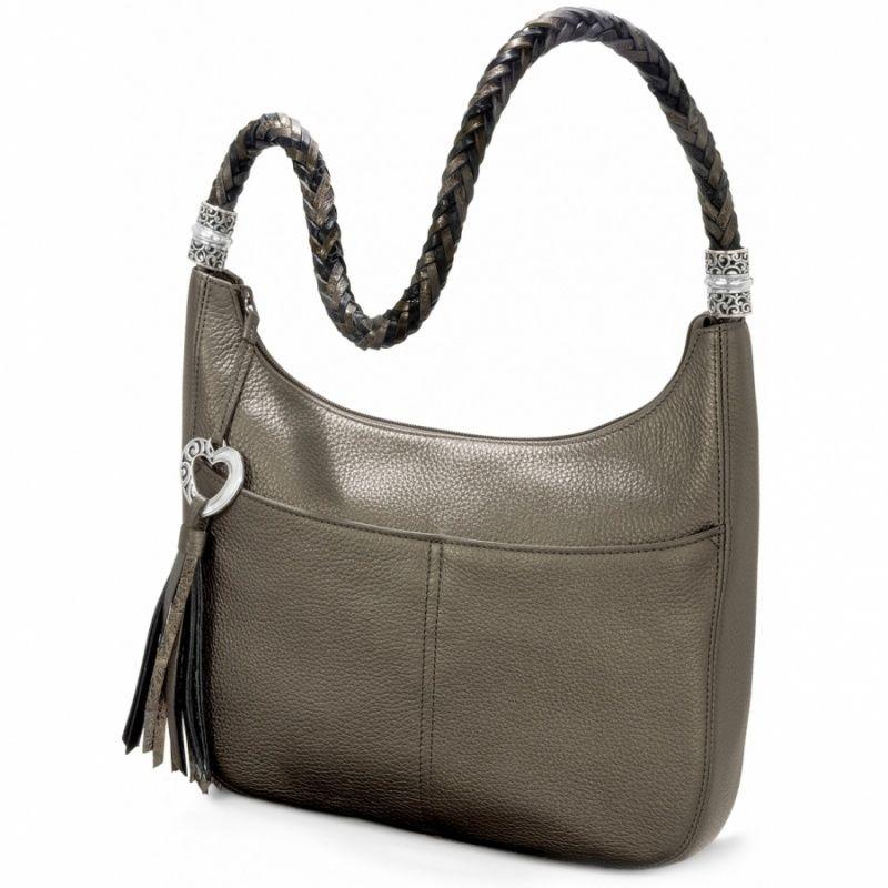 5bdb9804239e Brighton Barbados Ziptop Hobo in Pewter. Such a great bag