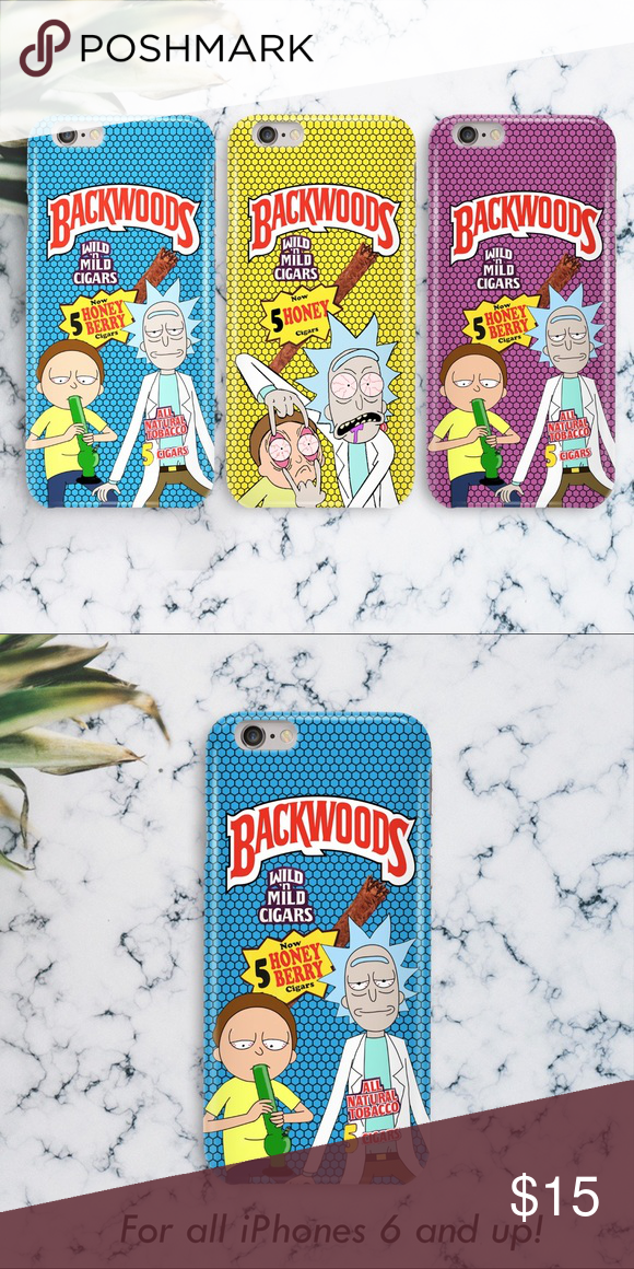 half off f7216 84716 Rick and Morty Backwoods Cigar Roll-Up iPhone Case ***3 COLORS ...