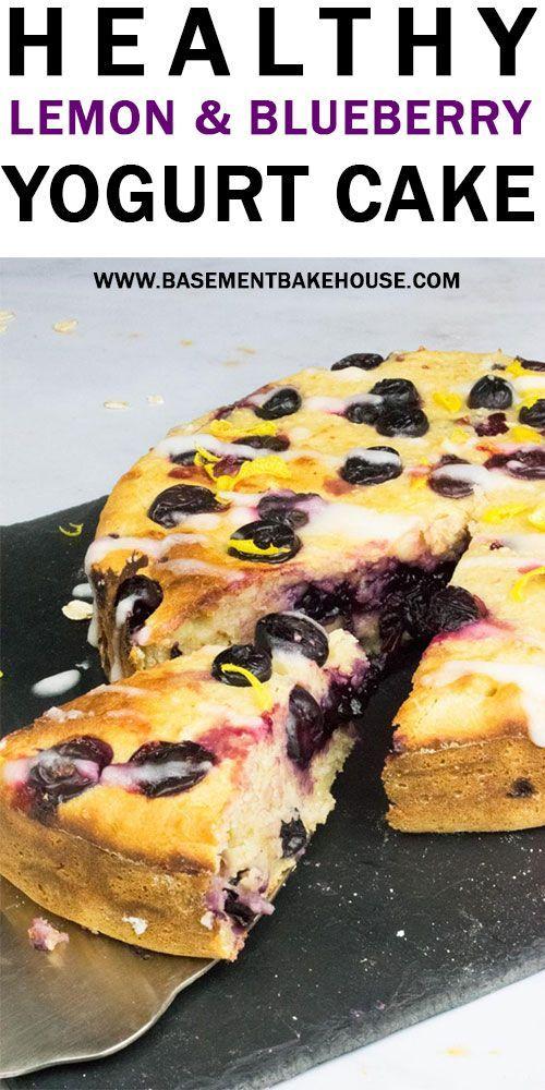 Healthy Lemon & Blueberry Yogurt Cake