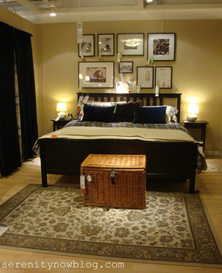 hemnes bedroom ideas   ... bedroom wall plus balck curtain decor ...