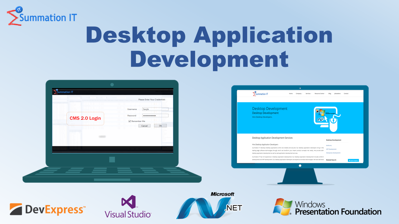 Desktop Application Development Services at Summation IT