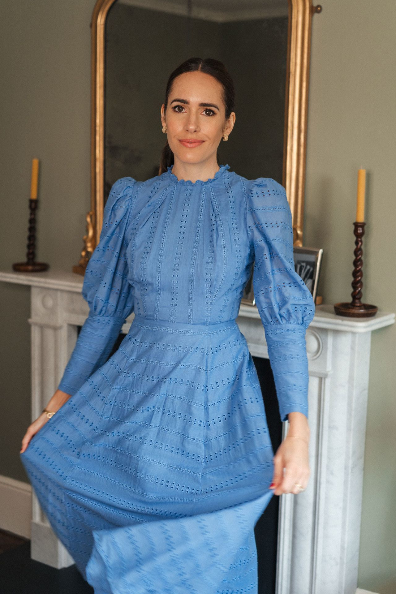 High Necks And Puff Sleeves My New Obsession Front Roe By Louise Roe Mini Dress With Sleeves Puff Sleeve Dresses Puff Sleeve [ 1920 x 1280 Pixel ]
