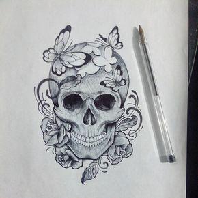 serara5 skull tattoos tattoos tattoo designs. Black Bedroom Furniture Sets. Home Design Ideas