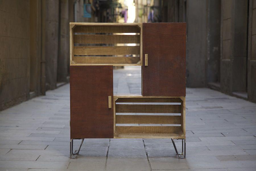 free finest best mesa de cajas de fruta reciclados ancho alto fondo mueble with cajas fruta recicladas with muebles con cajas de fruta with muebles con - Muebles Con Cajas De Fruta