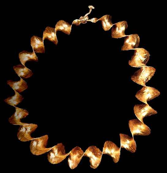 Celtic Gold Ribbon Torc found near Belfast Co Antrim Ireland c
