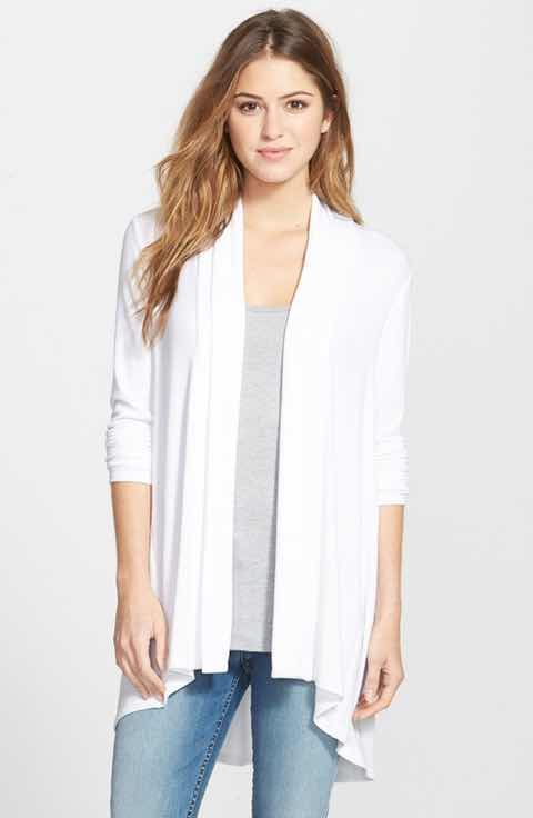 Long white sweater to wear over things - lightweight for spring ...