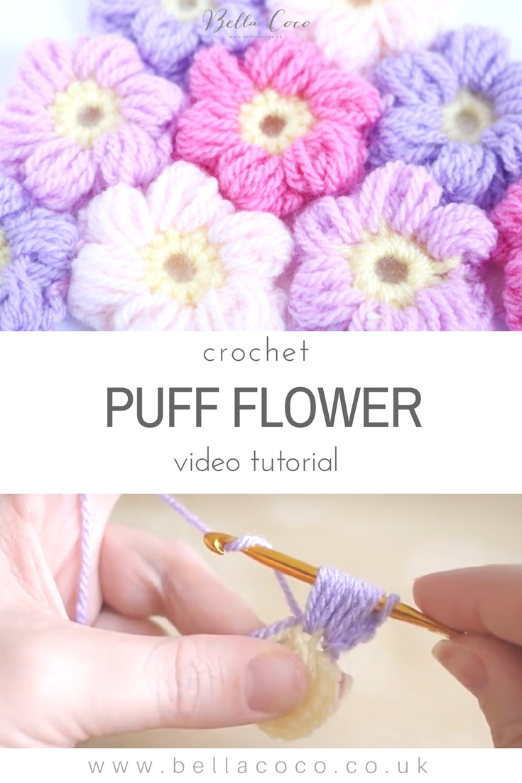 Easy video tutorial and FREE written pattern for the crochet puff ...
