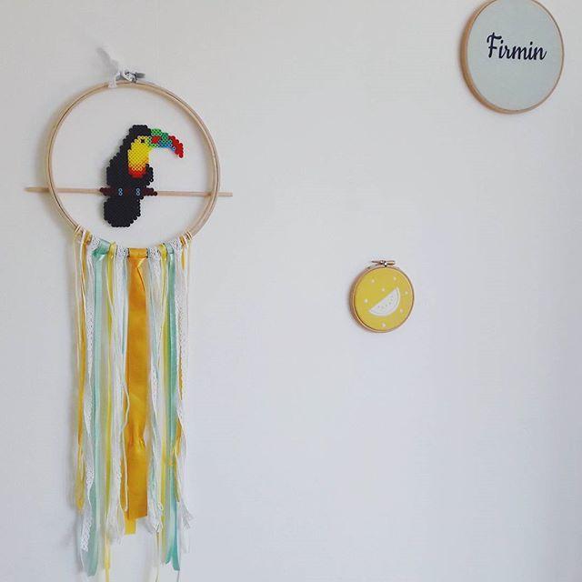 attrape r ves tropical avec un toucan en perles hama kids pinterest attrape r ve toucan. Black Bedroom Furniture Sets. Home Design Ideas