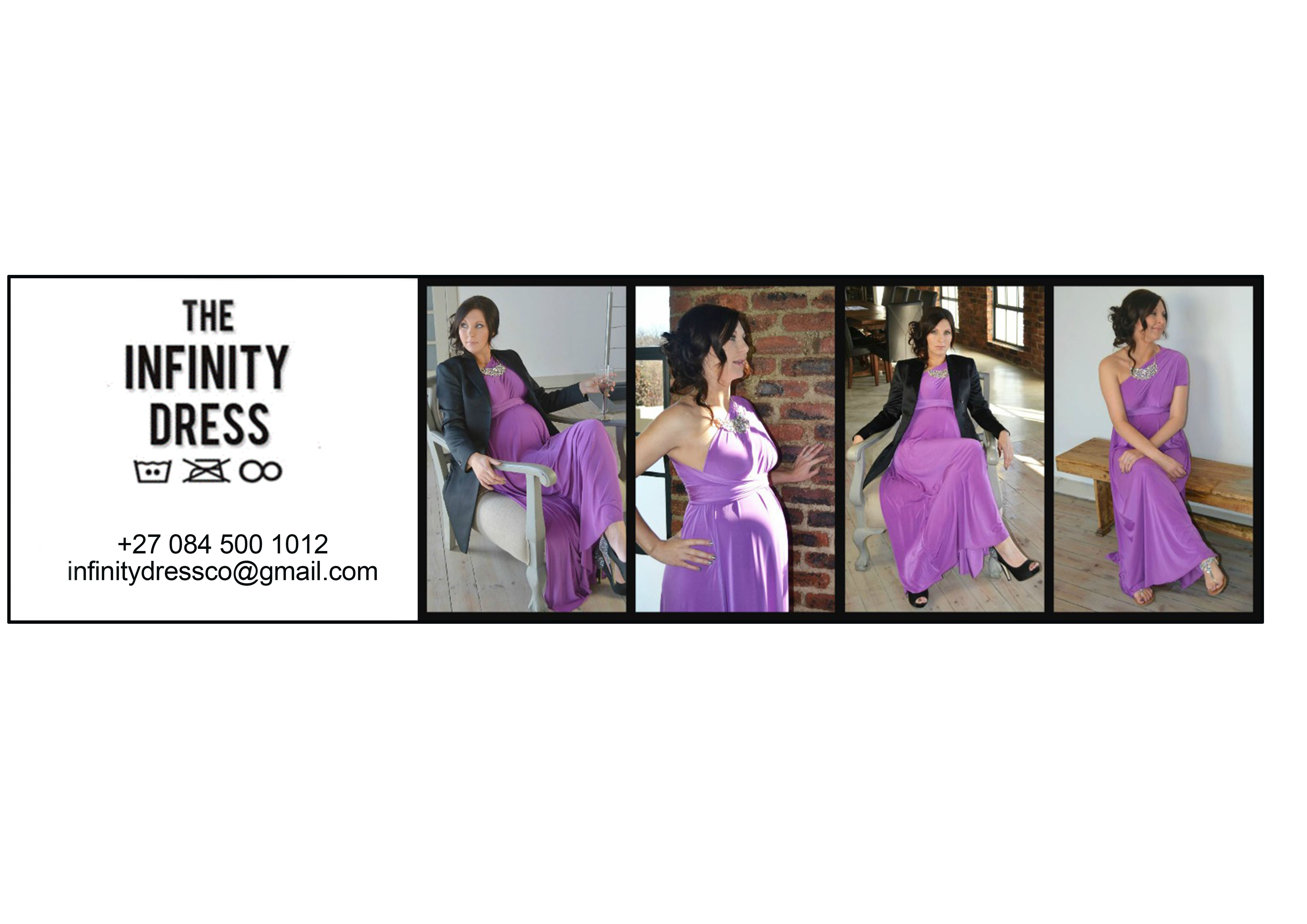 Using this collage for the Infinity dress co swing tickets.