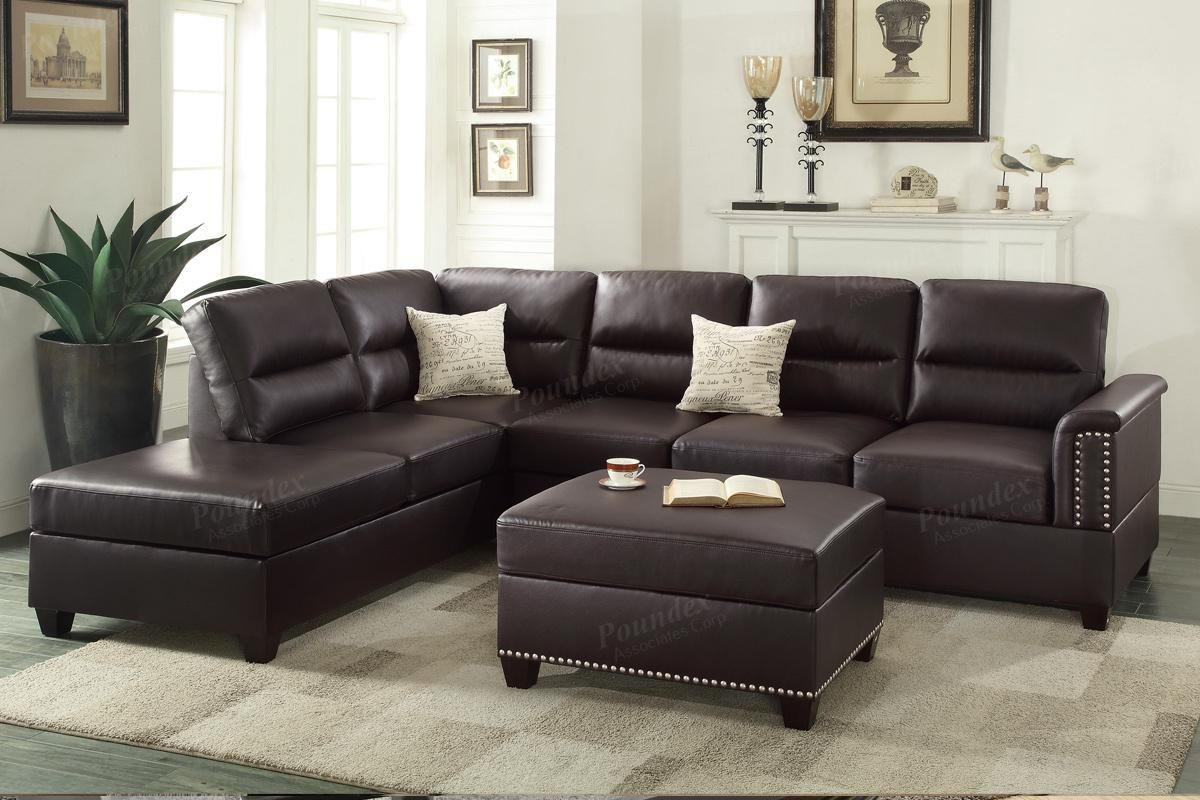 Awesome Brown Leather Sectional Sofa Perfect 27 With Additional Room Ideas