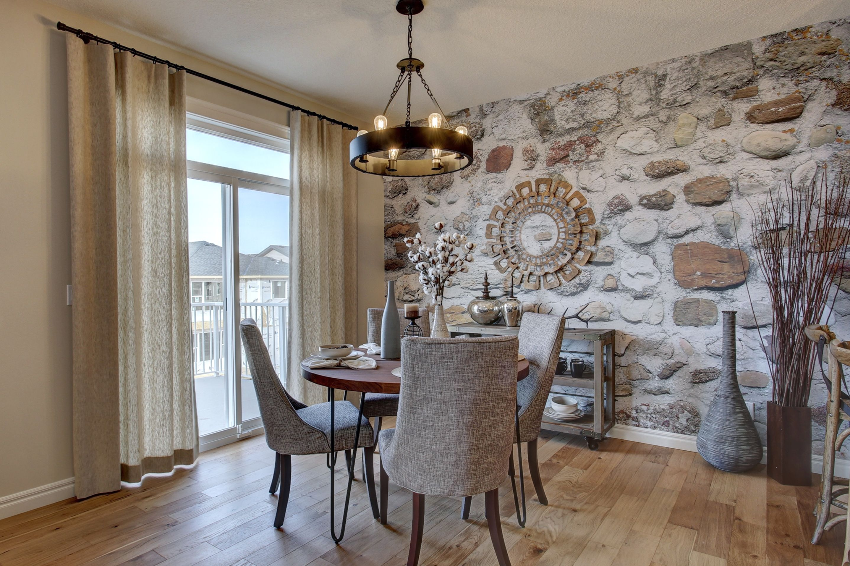 Dining Room Wallpaper Custom Faux Stone Wall Paper Www