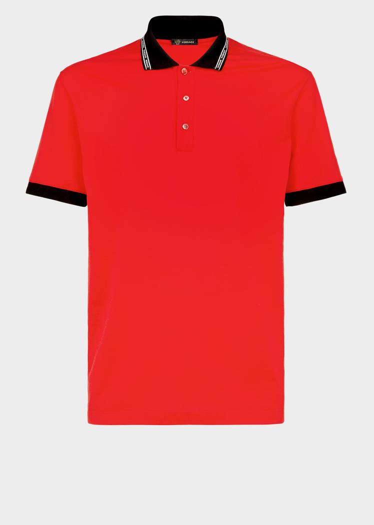 Nastro Versace Polo Shirt Red T Shirts Polos Versace Polo Shirt Mens Polo Shirts Polo Shirt