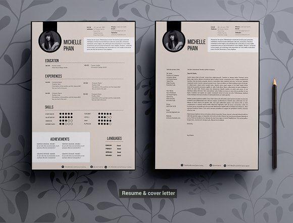 Modern Elegant Cv Template By Chic Templates On Creativemarket